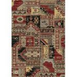 Dayton Red Patchwork Traditional Rug