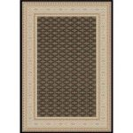 Dayton Black Synthetic Traditional Rug