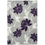 Kampala Grey & Purple Modern Rug