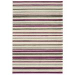 Kampala Purple Stripe Contemporary Rug
