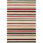 Kampala Red Stripe Modern Rug