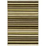 Kampala Brown & Green Stripe Modern Rug