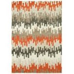 Kampala Orange & Grey Contemporary Rug