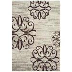 Kampala Grey & Brown Floral Modern Rug