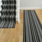 Lima 459 Grey Black Stripes Extra Long Stair Carpet Runner – 90cm