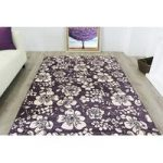 Modern Floral Heather Purple Rug Bombay – 80cm x 150cm
