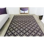 Modern Heather Purple Trellis Rug Bombay – 60cm x 240cm