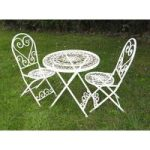 Cream Lavenham Bistro Garden Table & Chairs Set