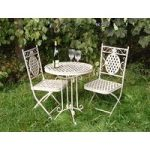 Cream Bistro Garden Table & Chairs Set