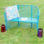 Blue Two Seater Marseille Garden Bench