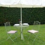 Green Hampton Bistro Garden Table & Chairs Set