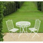 Cream Hampton Bistro Garden Table & Chairs Set
