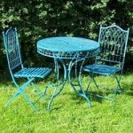 Blue Hampton Bistro Garden Table & Chairs Set