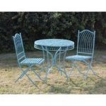 Hampton Bistro Garden Powder Blue Table & Chairs Set