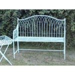 Powder Blue Hampton Garden Bench