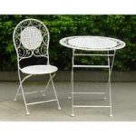 Cream Two Seater Bistro Garden Set