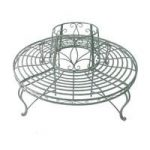 Light Green Circular Garden Bench Tree Seat