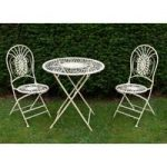 Vintage Two Seater Cream Bistro Garden Set