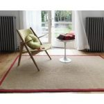 Malmo Linen with Red Border Sisal Rug