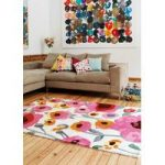 Salerno White & Multi Floral Wool, Viscose Rug