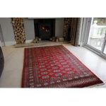 Red Pakistan Mori Oriental Rug