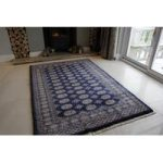 Blue Hand Made Pakistan Mori Oriental Rug