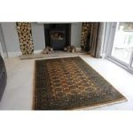Gold Hand Made Pakistan Mori Oriental Rug